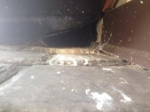 Raccoon soffet damage 2 - Nov 11, 14